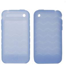 Case In Silicone Clear Blu (onde) Per Iphone 3g / 3gs