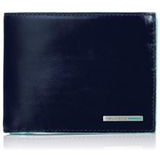 - Portafoglio Uomo Con Portamonete, Porta Carte Di Credito E Doppio Volantino Blue Square - Pu3436b2