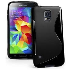 Cover Custodia Sline Silicone Tpu - Nero - Samsung Galaxy S5