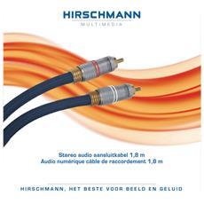 Stereo Audio, 1.8m, 1,8m, RCA, RCA