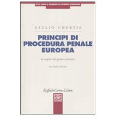 Principi di procedura penale europea. Le regole del giusto processo