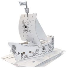 modello in cartone nave pirata joypac 48x18x50cm