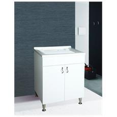 Lavatoio Bianco Cm. 60 X 50 Compl. sif. E Tav.