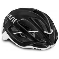 Protone Black Glossy-white Casco Ciclo Taglia M