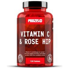 Vitamin C 1000 Mg + Rosehip 120 Tabs Essenziale Vitamina Per La Salute
