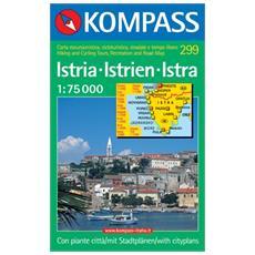 Carta escursionistica n. 299. Croatia. IstrienIstraIstria 1:50.000