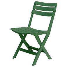 Sedia In Resina Pieghevole Verde 104711
