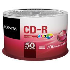CD-R 80 50CDQ80PP Confezione da 50 CD-R Vergini Printable 700 MB 80 min