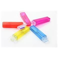 Spazzolino Da Denti Tascabile Pocket Igiene Orale Da Viaggio Ufficio Palestra Campeggio Vari Colori
