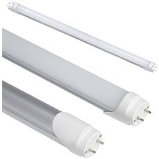 Set Da 10 Tubi Neon Led Smd Vetro Opaco 120 Cm Con Attacco T8 Da 18 Watt Luce Bianco Fredda Alta Luminosità