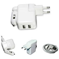 VXMAC027, Auto, Interno, Universale, AC, Accendisigari, Bianco, Contatto, USB