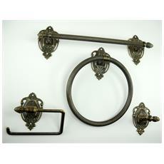 WC30. Set da bagno ottone brunito accessori da 4 pezzi
