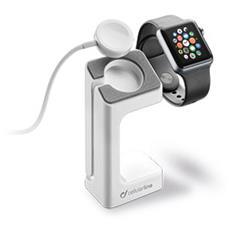 Cellularline Dock Station - Apple Watch Supporto da tavolo per ricaricare l'Apple Watch Bianco