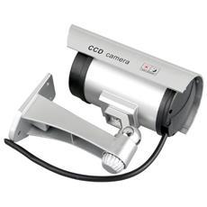 Telecamera Finta Da Esterno Con Led Rosso Lampeggiante (Fake)