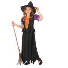 Costume Da Strega Per Bambina 7 - 9 Anni (m)