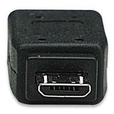 Hi-Speed USB Adapter, USB Mini-B, USB Micro-B, Maschio / femmina, Nero