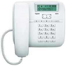 Telefono da tavolo con funzione vivavoce, rubrica 50 nomi con display alfanumerico - Bianco