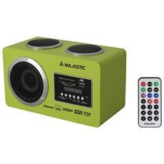 RADIO MULTIMEDIALE BT USB SD AUX C / TEL GREEN