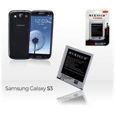 Batteria Compatibile Samsung Galaxy S3 9300 E Successivi Maxtech Li-ion Battery 2100mah T008