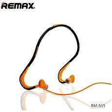 Cuffie Auricolari Sports Wired Stereo Headset 3,5mm Rm-s15 Arancio