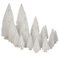 Set 21 Abeti Bianchi - Tree White Cod. 609159 Presepe