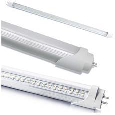 10 Tubi Neon Led Smd Vetro Trasparente 120 Cm Con Attacco T8 18 Watt Luce Bianco Fredda Alta Luminosità