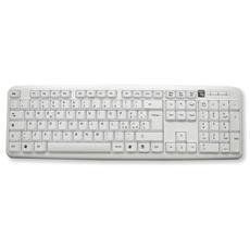 IDATA 955-UWH Tastiera 105 tasti USB Standard Layout Italiano colore Bianco
