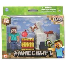 Figure Minecraft Steve and Horse Pack