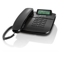 Telefono da tavolo con funzione vivavoce, rubrica 50 nomi con display alfanumerico - Nero