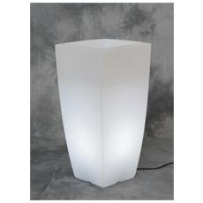 Vaso Home Light Quadro Cm. 40x40x90h. ghi / bia