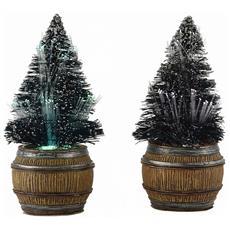 Due Abeti In Botte H9,5cm - Tree In Barrel Cod. 612050 Presepe