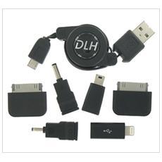 DY-TU1567, 2.0/3.0 (3.1 Gen 1) , USB A, Micro-USB A, Maschio / maschio, Nero