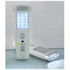 I-LED EMGY15 - Lampada di Emergenza Alimentata 15+5 LED con Torcia
