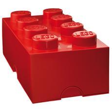 Scatola - Contenitore 8 Bottoncini Colore Rosso