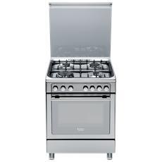 Cucina Elettrica CX65S7D2 IT (X) / HA H 4 Fuochi a Gas Forno Elettrico Multifunzione Dimensione 60 x 60 cm Colore Inox