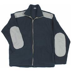 GIACCA DA LAVORO PILE Colore BLU TAGLIA XL Poliestere con zip Toppe e 2 Tasche
