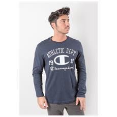 T-shirt Maniche Lunghe Uomo East 1919 Blu Xl