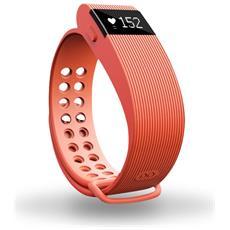 """Activity Tracker Resistente all'acqua IP67 Display 0.49"""" con Bluetooth per Fitness e Cardiofrequenzimetro Arancione - Italia"""