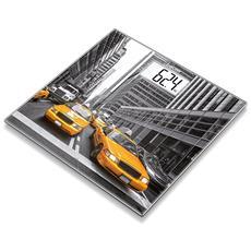 Bilancia in Vetro con Stampa New York Portata Massima 150 Kg