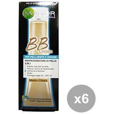 Set 6 Bb Cream Pelli Miste-grasse Medio-chiara Cura Del Viso