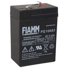 IC-FG10451 - Batteria al Piombo 6V 4,5Ah (Faston 4,8mm)