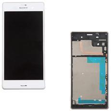 Display Schermo Touch Screen Lcd + Frame Sony Xperia Z3 L55t L55u D6603 Bianco