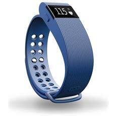 """Activity Tracker Resistente all'acqua IP67 Display 0.49"""" con Bluetooth per Fitness e Cardiofrequenzimetro Blu - Italia"""