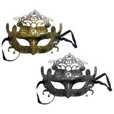 Set 3 Pezzi Maschera Mascherina Veneziana Oro O Argento Principessa Regina Carnevale Travestimento Sfumature