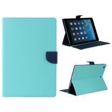 Custodia Deluxe Bcf Per Apple Ipad Air2light-bleu Dark-bleu