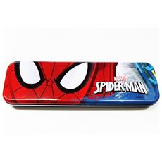 Astuccio Metallo Spiderman Marvel Uomo Ragno Portapenne Portapastelli Bambino