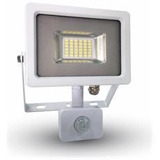Faretti Led 20w Ip44 Smd Ultra Sottile Con Sensore Crepuscolare E Movimento Luce Calda 3000k V Tac Vt-4820 Pir 5756