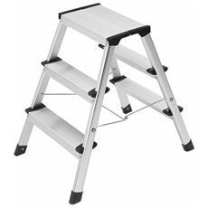 Scaletta Pieghevole in Alluminio 3 Gradini L90 Step-ke