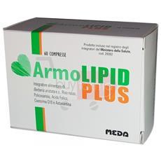 Armolipid Plus 60 Cpr - Integratore Alimentare Per Controllare I Livelli Di Colesterolo E Trigliceridi - Prodotto Originale Italiano