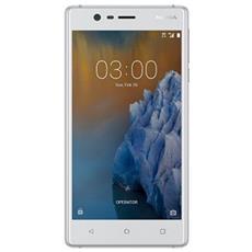 "3 Bianco 16 GB 4G / LTE Dual Sim Display 5"" HD Slot Micro SD Fotocamera 8 Mpx Android Italia"